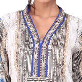 Digital Printed Stitched Kurti In Brown (WKL0035-Brown)