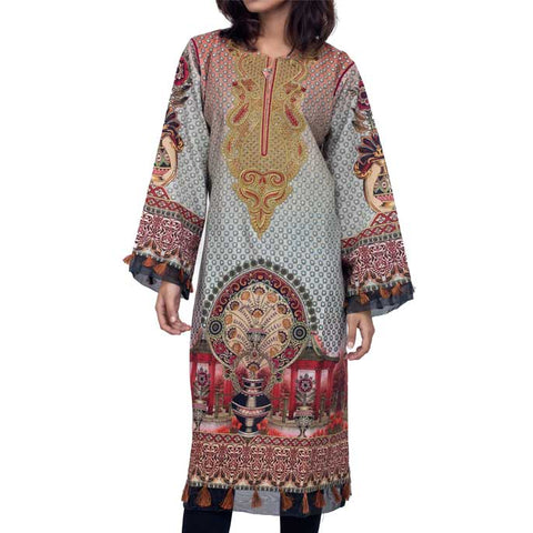 Digital Printed Stitched Kurti In Azalea (WKL0041-AZALEA)