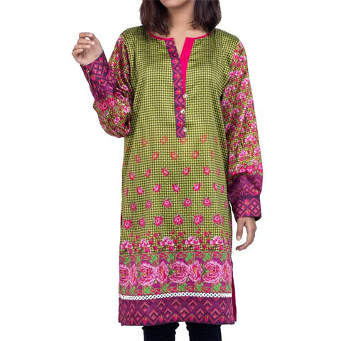 Digital Printed Stitched Kurti In Purple (WKL0048-PURPLE)