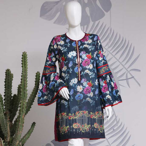 Digital Printed Stitched Kurti WKL0062-N-Blue