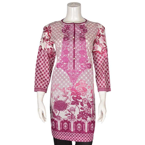 Women Stitched Kurti In Purple (WKL0077-PURPLE)