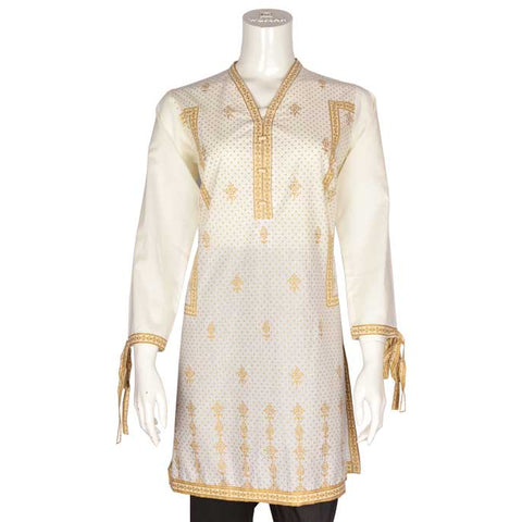 Women Stitched Kurti In Fawn (WKL0085-FAWN)