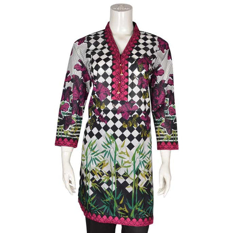 Women Stitched Kurti In Purple (WKL0086-Purple)
