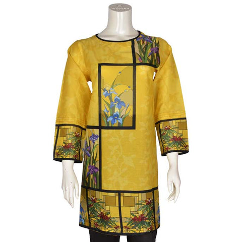 Women Stitched Kurti In Yellow (WKL0093-Yellow)