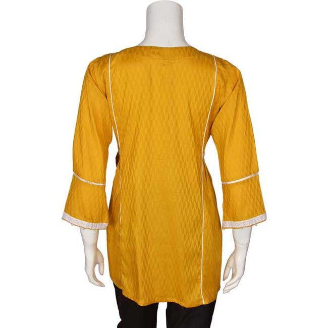 Women Stitched Kurti In Musterd (WKL0103-MUSTERD)