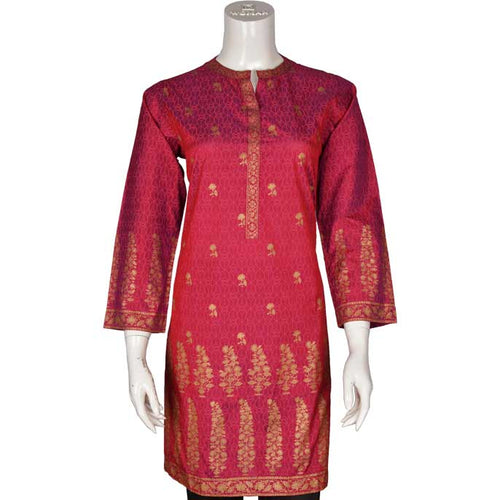 Women Stitched Kurti In D-Pink (WKL0142-D-PINK)