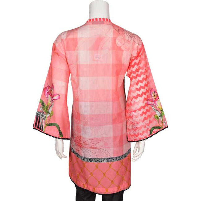 Digital Printed Stitched In Pink (WKL0161-PINK)