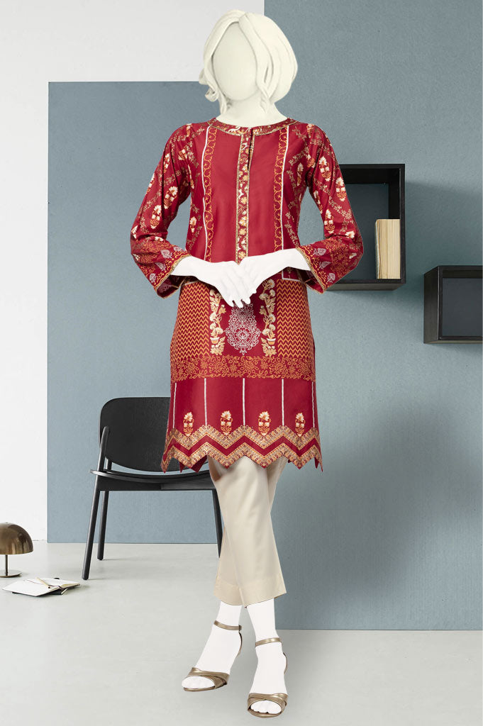 Women Stitched Kurti In Maroon SKU: WKL0372-Maroon