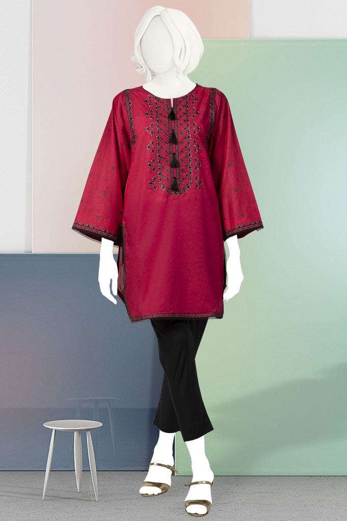 Women Stitched Kurti In D-Pink (WKL0387-D-Pink)