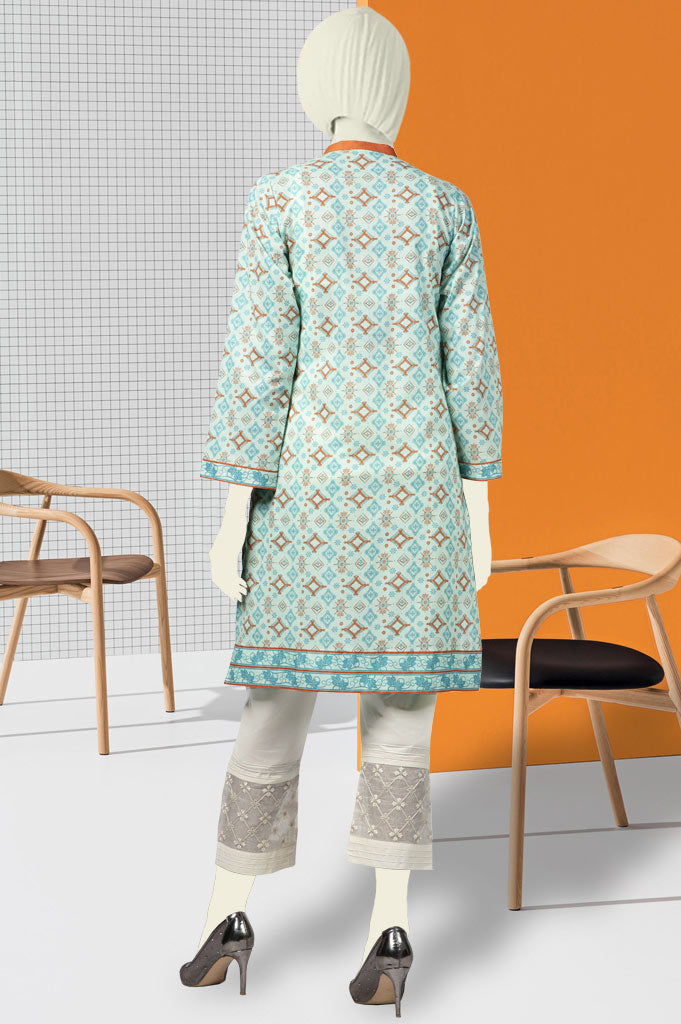 Women Stitched Kurti In Sky Blue SKU: WKL0392-Sky Blue