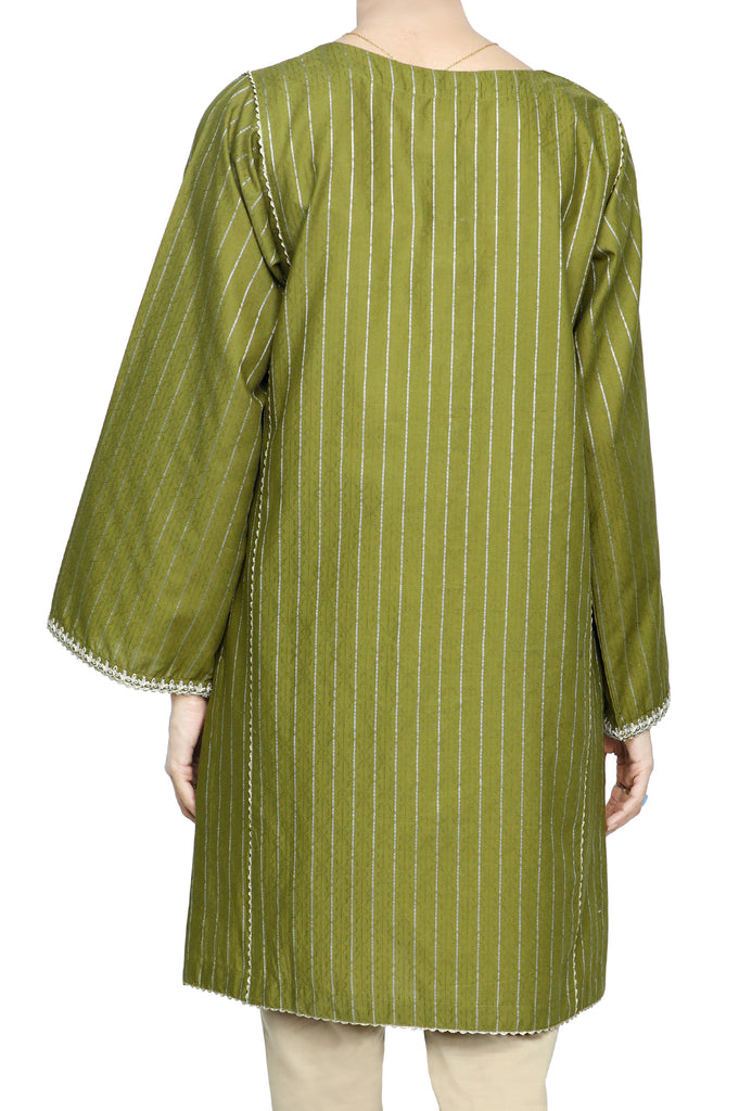 Women Stitched Kurti In Green SKU: WKL0681-GREEN - Diners