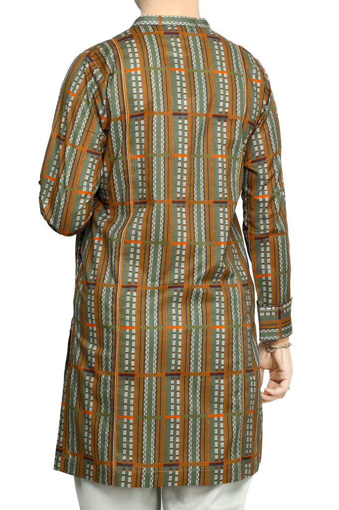 Women Stitched Kurti In Green SKU: WKL0669-GREEN - Diners