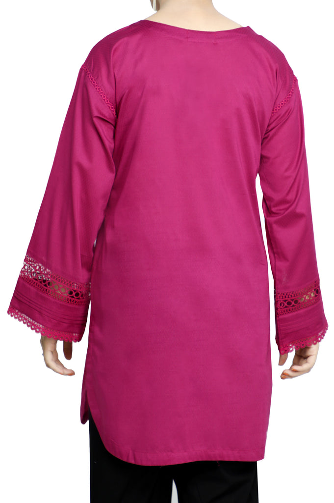 Women Stitched Kurti In Purple SKU: WKL0746-PURPLE - Diners