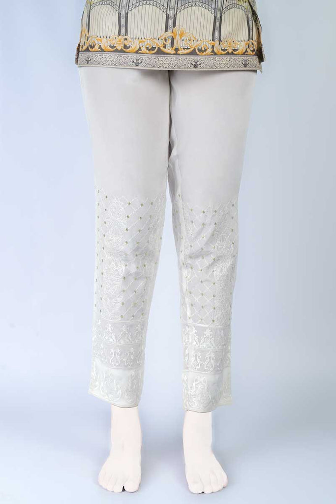 Ladies Trouser SKU: WTR0052-White - Diners