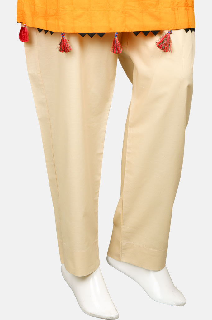 Ladies Trouser SKU: WTR0093-Cream