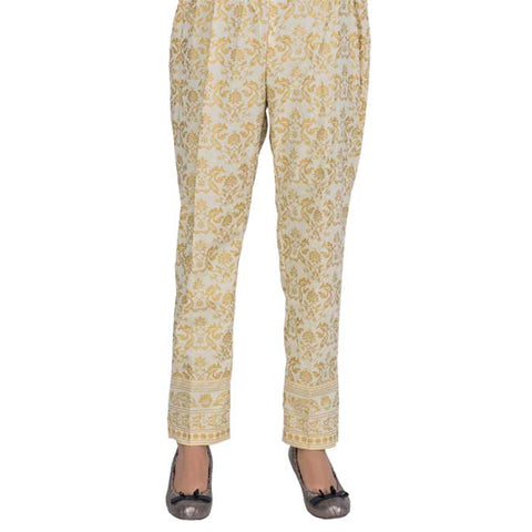 Women Cotton Trouser in Fawn SKU: WTR0008-Fawn