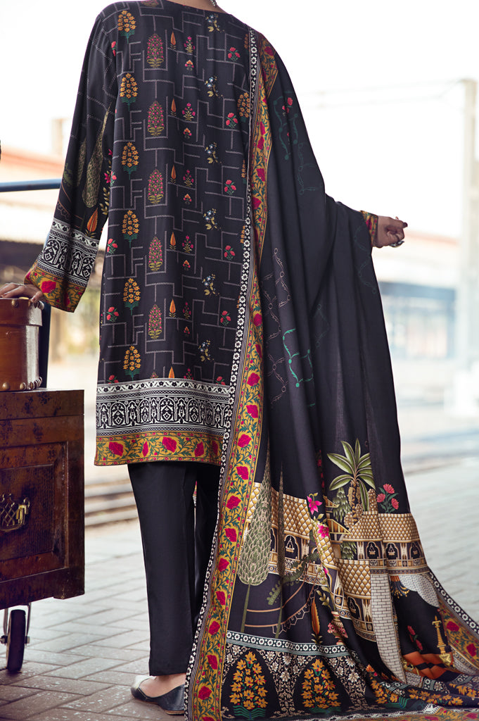 Unstitched Cotel+Viscose Printed Suit SKU: WUD0066-MULTI (2 Pcs) - Diners