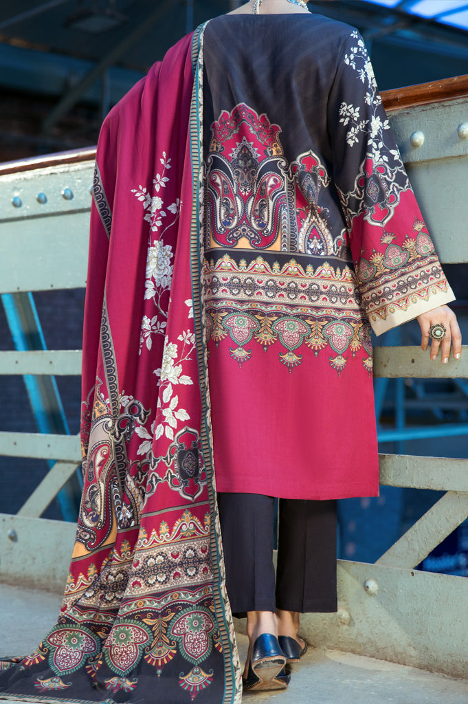 Unstitched Viscose Printed Suit SKU: WUD0067-MULTI (2 Pcs) - Diners