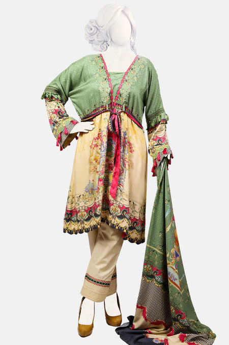 Embroided Kurti WKF0034-Green