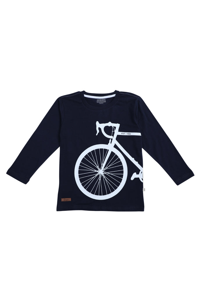 Boys T-Shirt SKU: KBA-0196 NAVY - Diners