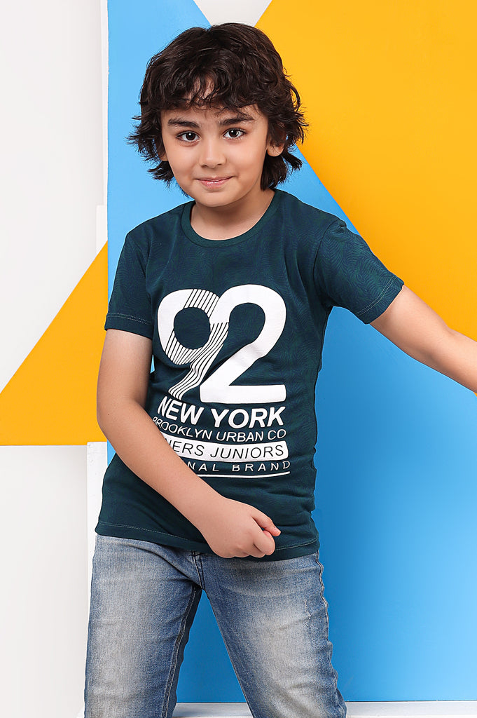 Boys T-Shirt In KBA0219-GREEN