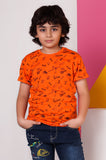 Boys T-Shirt In KBA0223-ORANGE