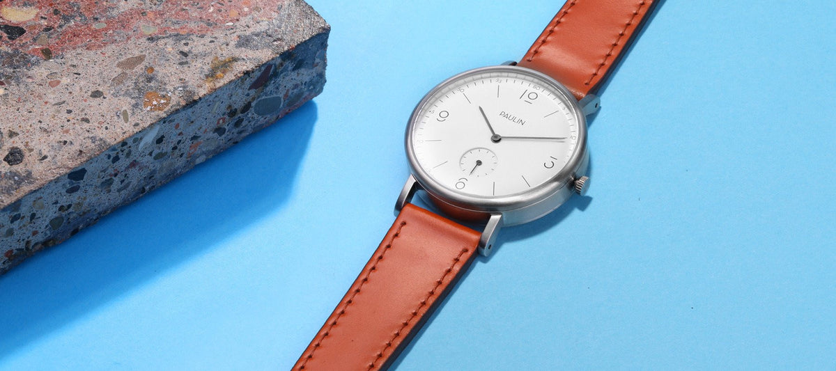 The Commuter Numerical A with shell cordovan watch strap