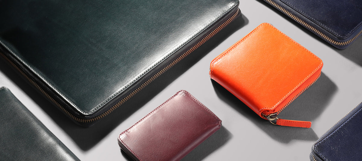 Paulin's leather goods range in full-grain, vegetable-tanned leather