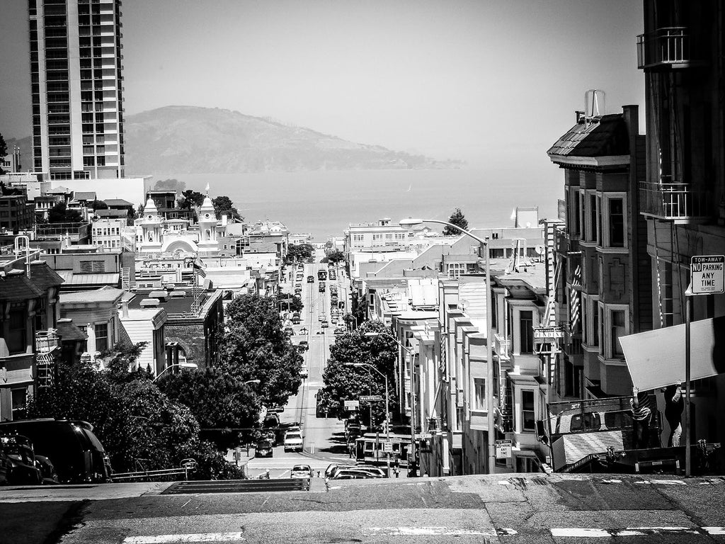 limited edition Black and White fine art photography Print of the streets of San Francisco.