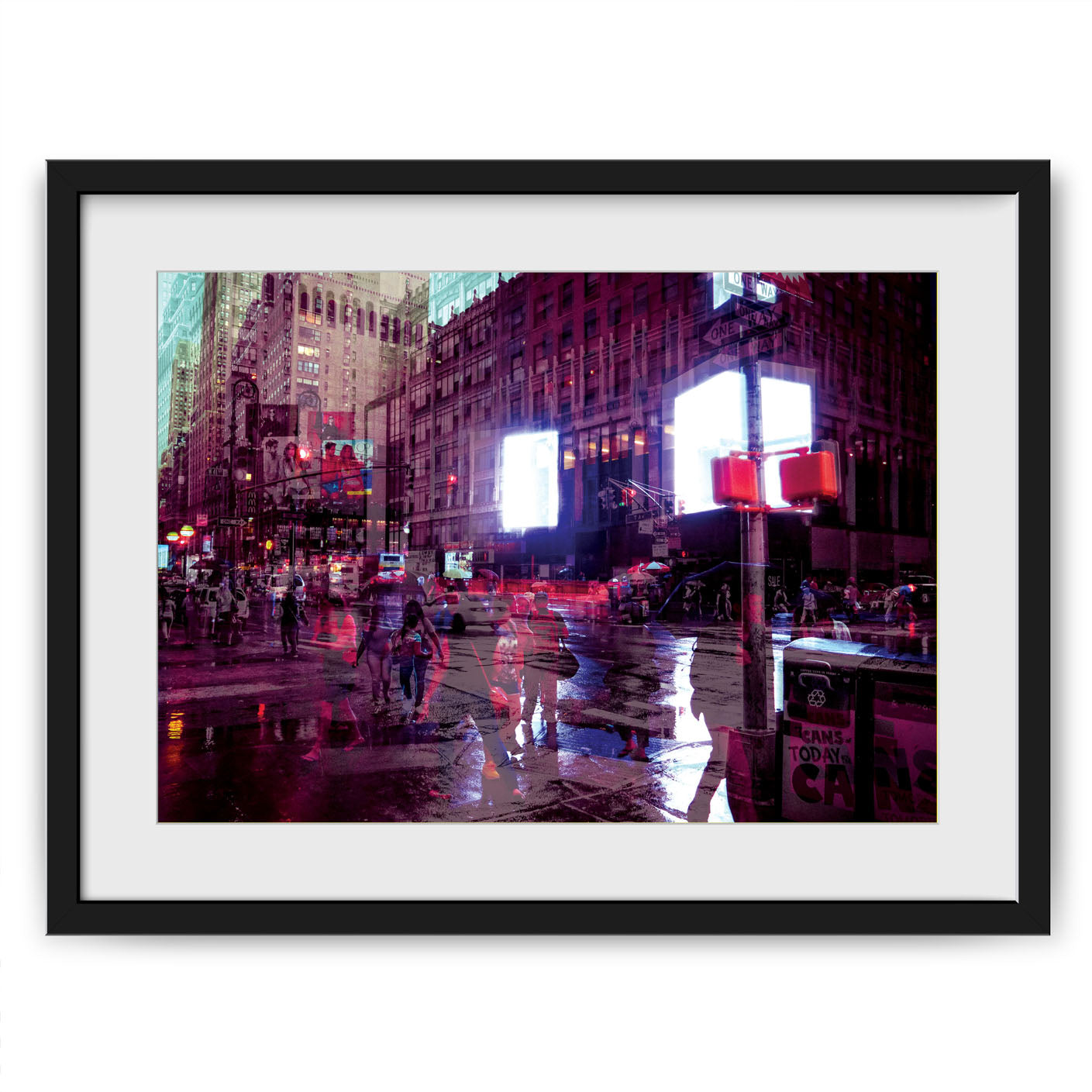 Framed example with mount of a Limited Edition colour fine art photography A2 size art giclee print taken on the streets of New York City