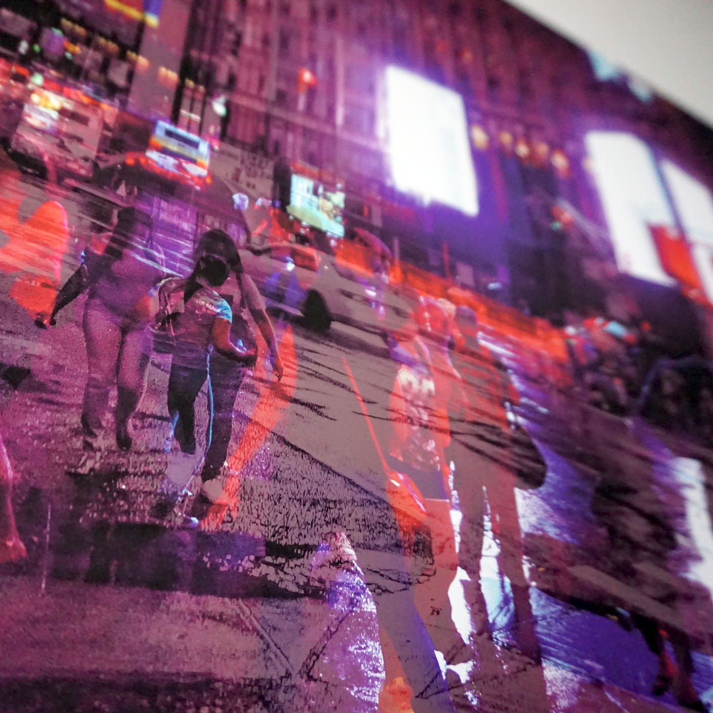 Close up shot of a Limited Edition colour fine art photography A2 size art giclee print taken on the streets of New York City
