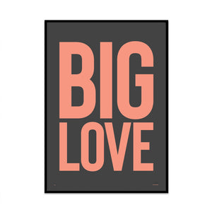 big love peachy edition modern stylish typography limited edition art print from what phil sees for your home gallery wall