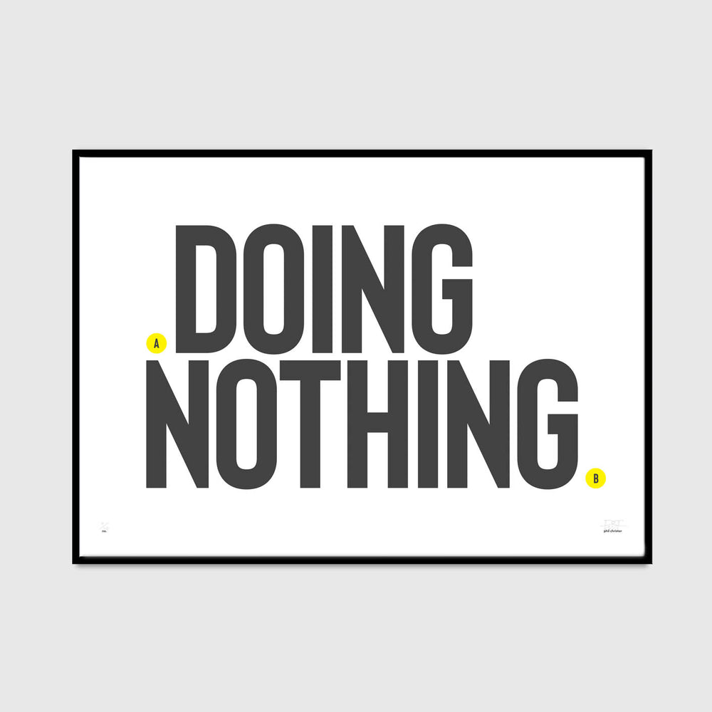 doing nothing (spot of yellow edition)