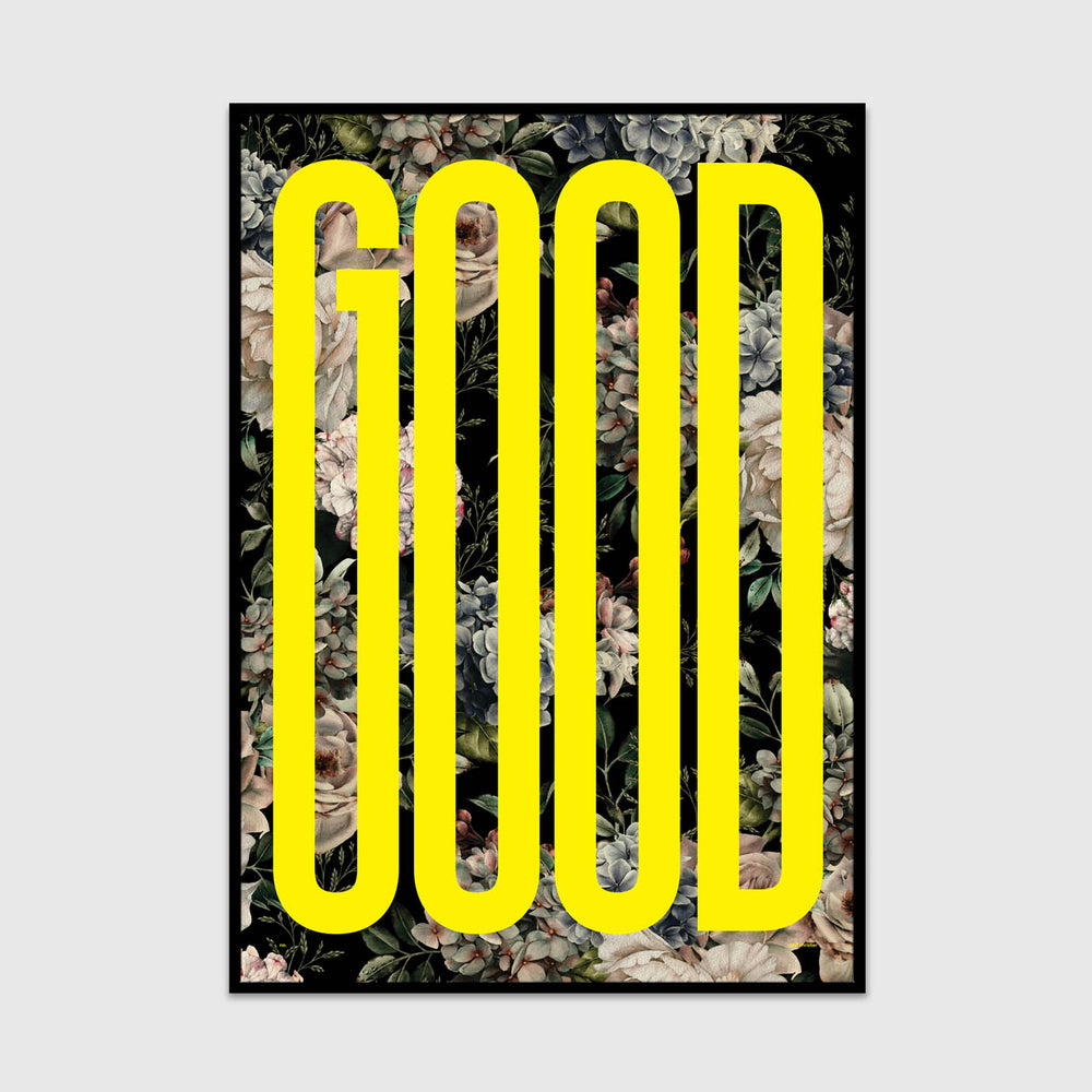 good (dark floral bright yellow edition)