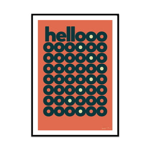hellooo 70s edition is a limited edition typography print from phil at what phil sees, perfect for your home hallway.