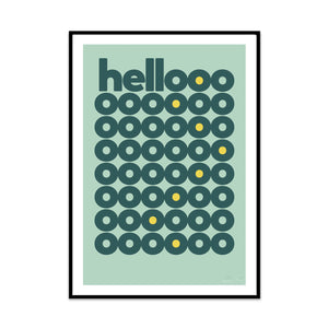 limited edition typography print called hello liquid edition from phil christer at what phil sees created for you home decor gallery wall