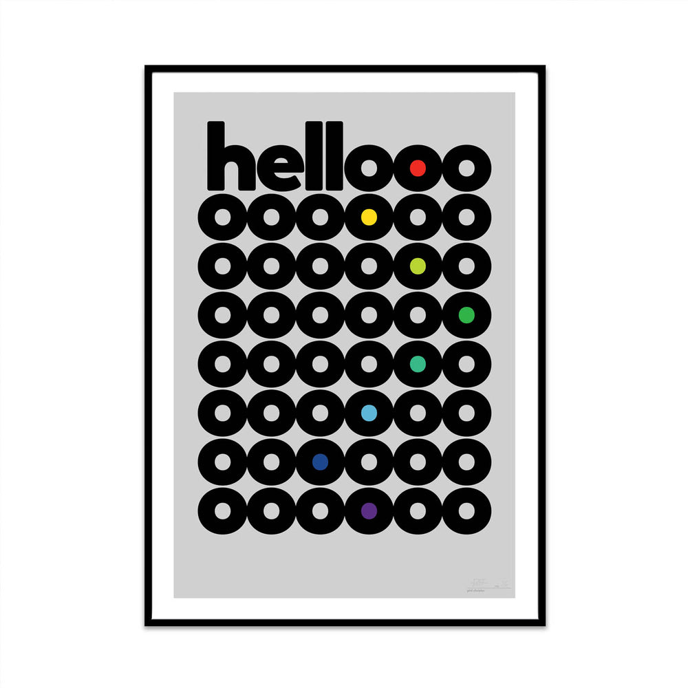 hello rainbow edition limited typography art print for your home decor gallery wall from phil at what phil sees