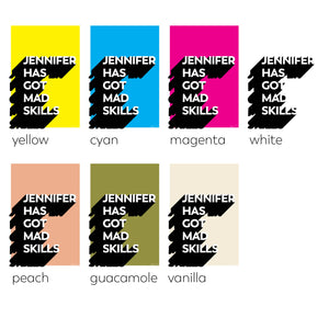 mad skills (personalised) 7 colours