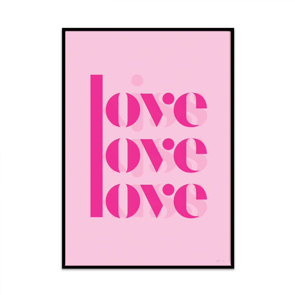 what Phil sees creates limited edition typography and photography high quality art prints. This prints is called pink love.