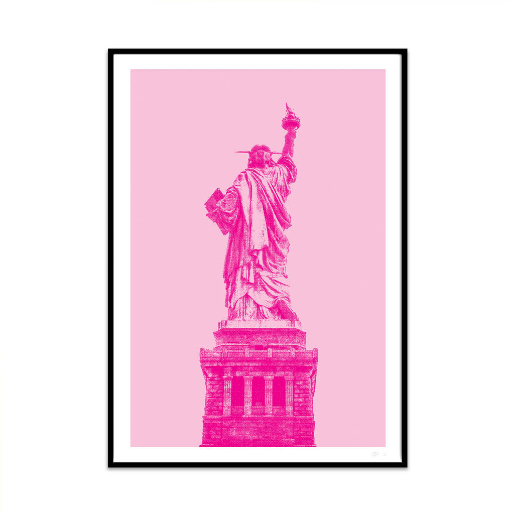what Phil sees limited edition typography and photography art prints for your home and gallery wall this print is called pink liberty.