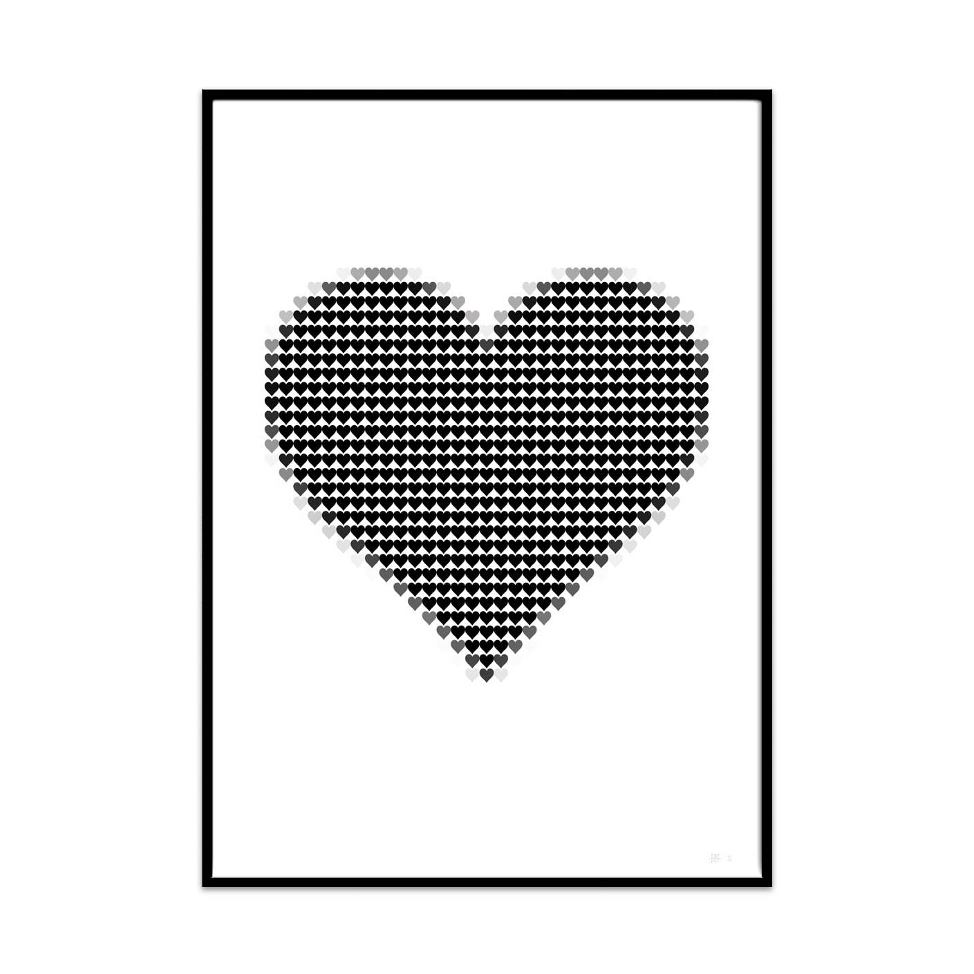 what Phil sees limited edition typography and photography art prints for your home and gallery wall this print is called my pixel heart.