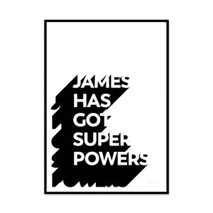 super powers (personalised) 7 colours