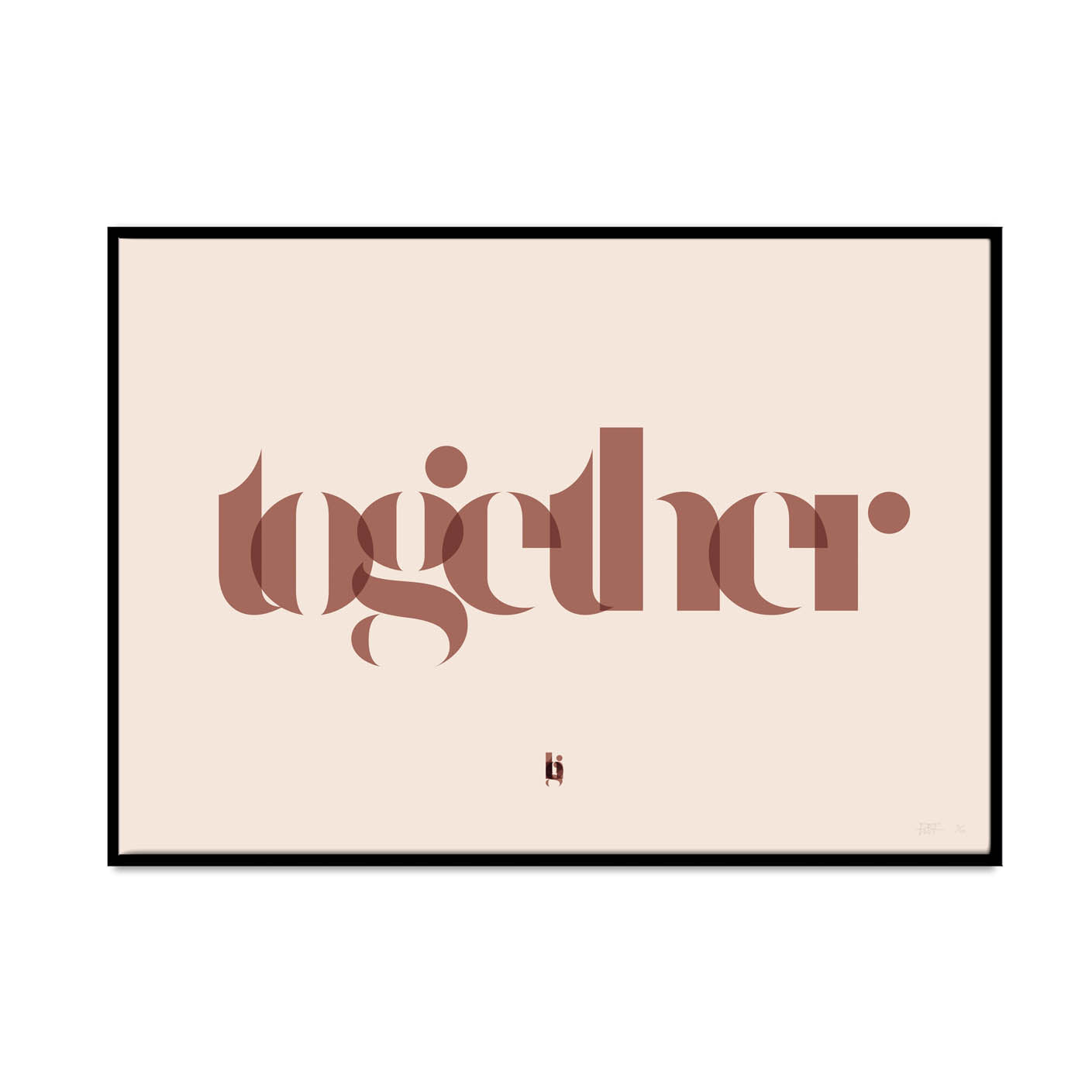 what Phil sees creates limited edition typography and photography high quality art prints. this print is called together again