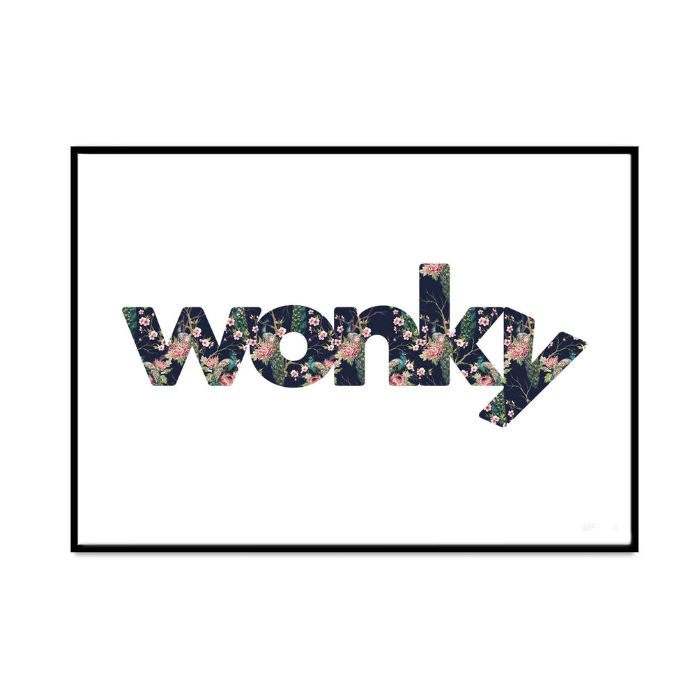 wonky (peacock blossom edition)