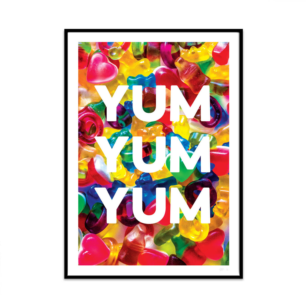 what Phil sees limited edition typography and photography art prints for your home and gallery wall this print is called yum.