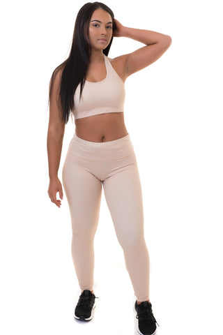 Extra High Waisted Leggings Nude
