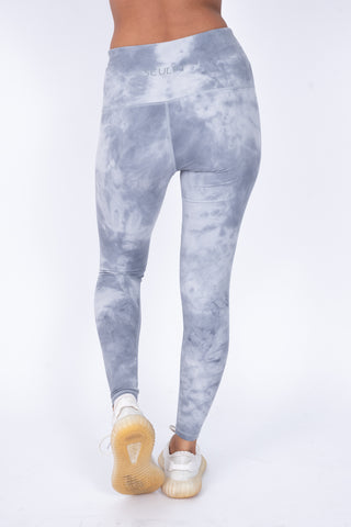 Tie-Dye Leggings Grey