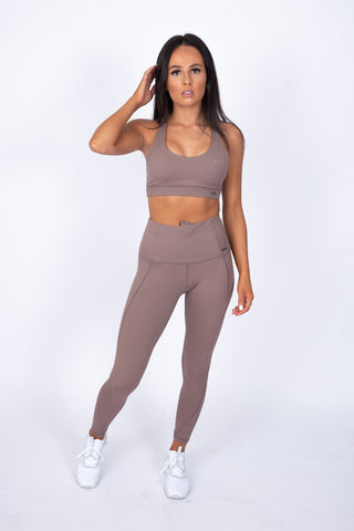 N.B Crossback Sports Bra Mocha