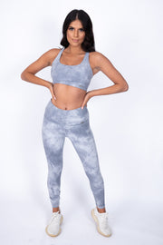 Tie-Dye Sports Bra Grey