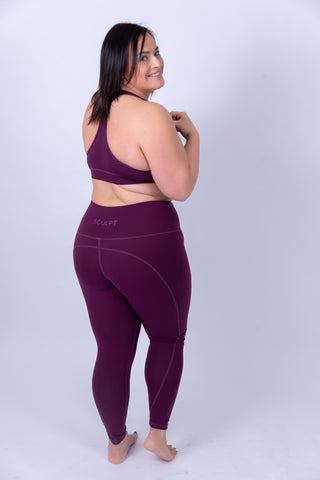 Soft Skin Sports Bra Purple